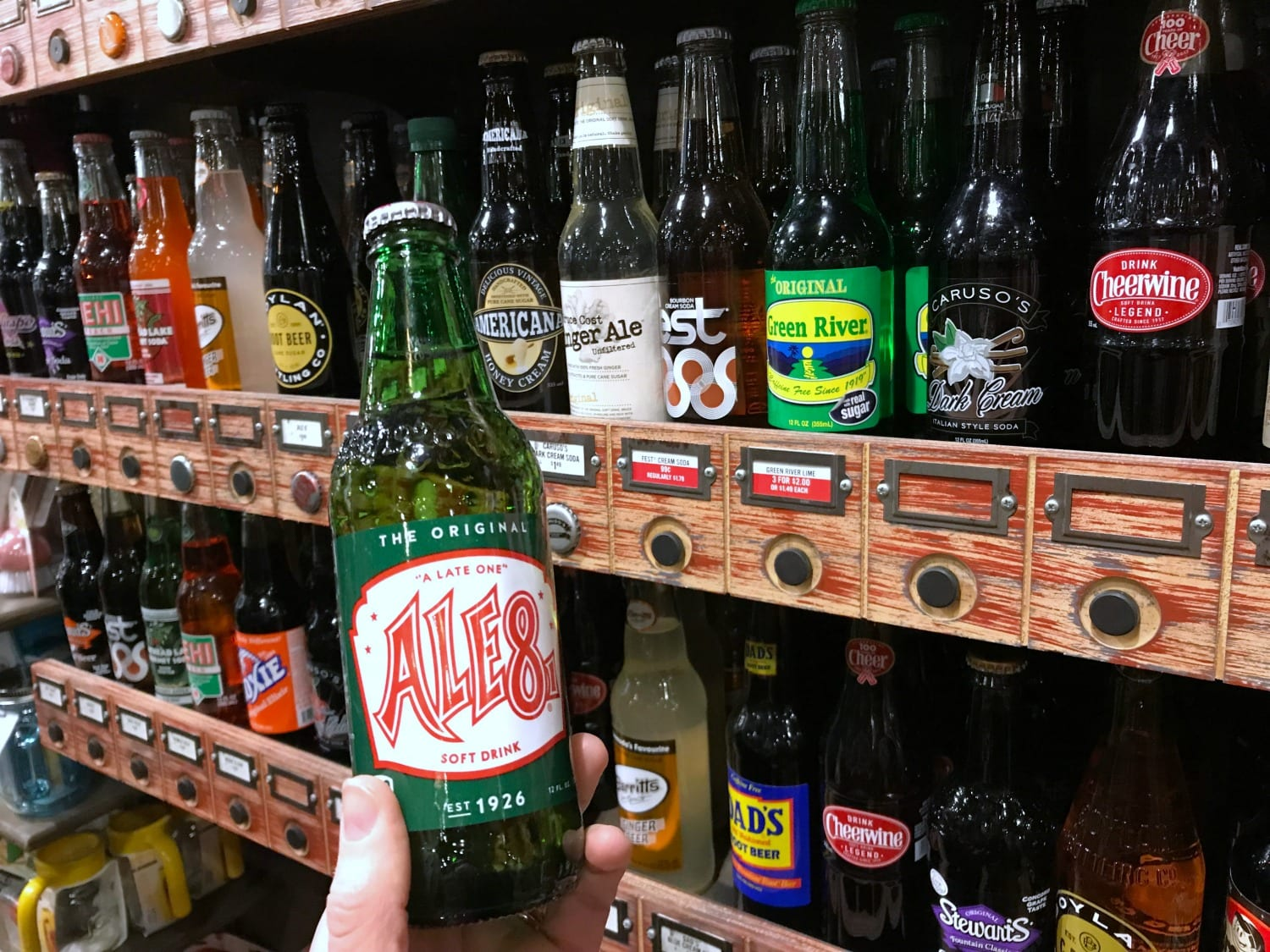 You can buy Ale-8-1 at Cracker Barrel stores!
