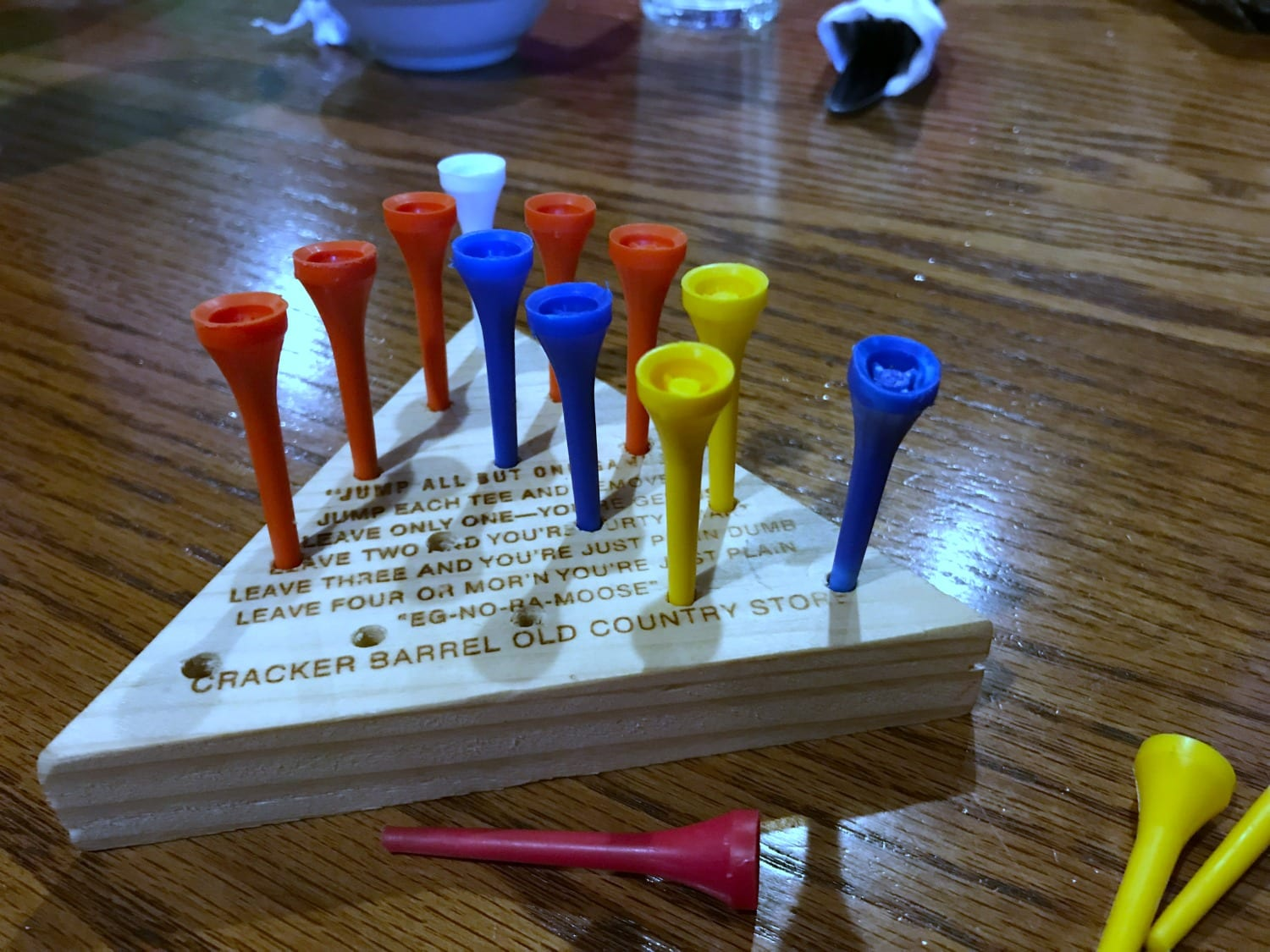 Games at Cracker Barrel while you wait for the food!
