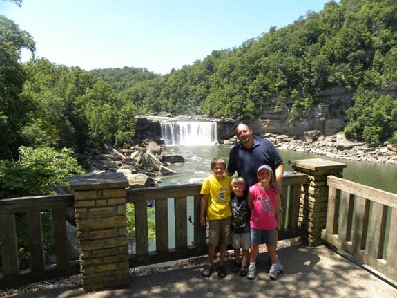 cumberland falls with dad