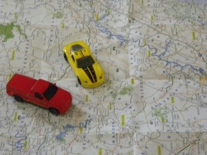 cars on map