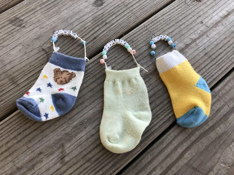 Baby Sock Ornaments