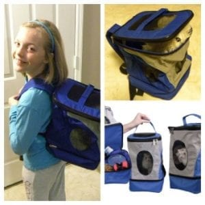 pet backpack collage
