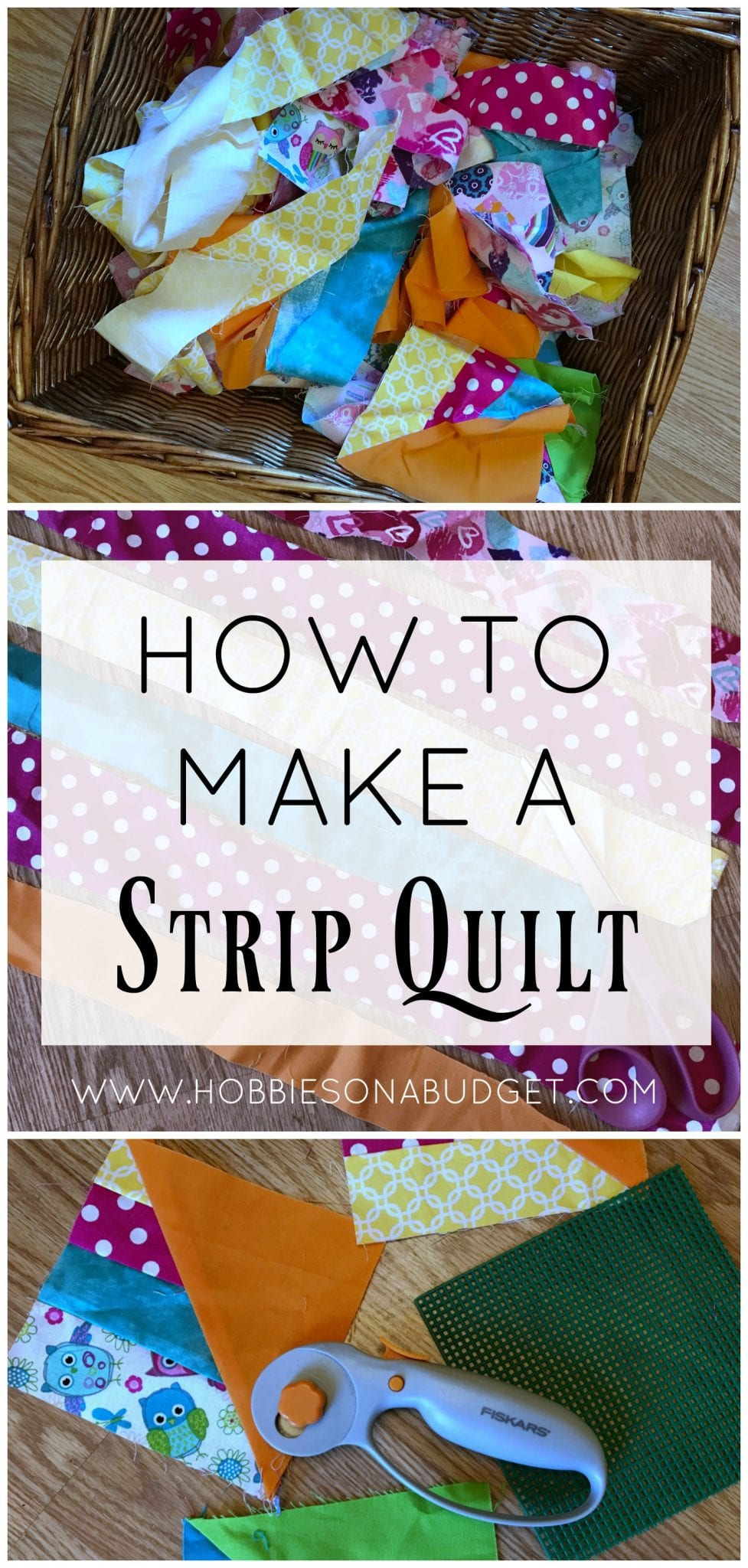 How to make a strip quilt