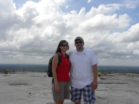 hiking to the top of stone mountain