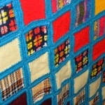 Blue Crocheted Squares Quilt