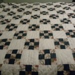 My first nine patch quilt