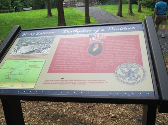 buchanans birthplace sign
