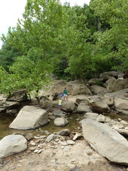 climbing base of falls