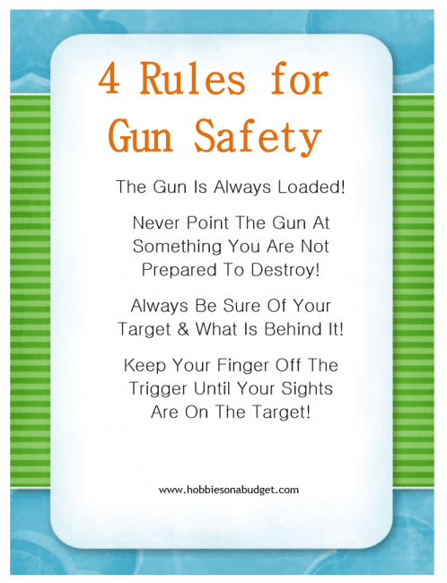 Handy image intended for printable gun safety rules