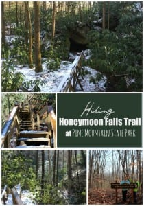 Hiking Honeymoon Falls Trail at Pine Mountain State Park
