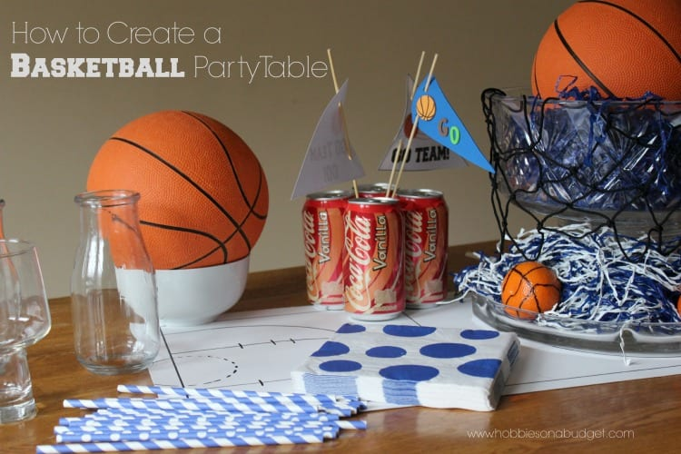 Basketball Themed Party Table