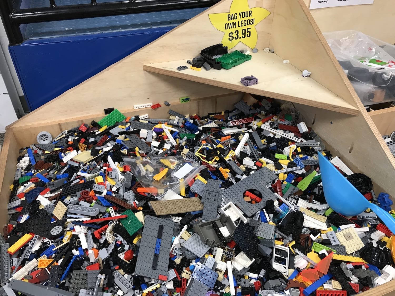 LEGO bricks at McKays Used Bookstore