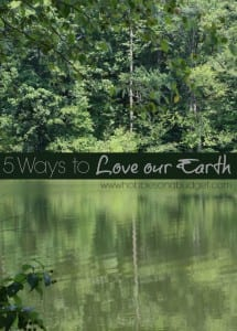 5 Ways to Love our Earth