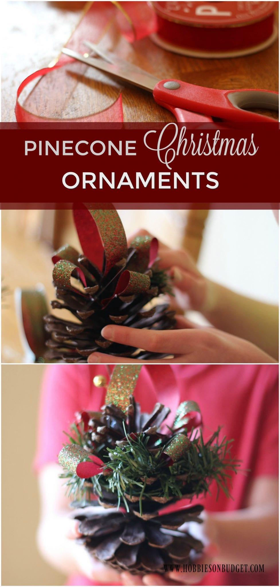 PINECONE CHRISTMAS ORNAMENTS