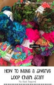 How to Make a Swerve Loop Chain Scarf – No Hook Required