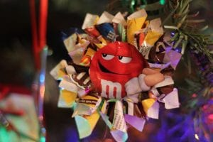 How to Make a Candy Wrapper Christmas Ornament