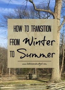 How to transition from Winter to Summer