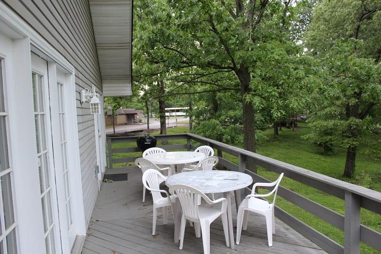 big bear villa porch