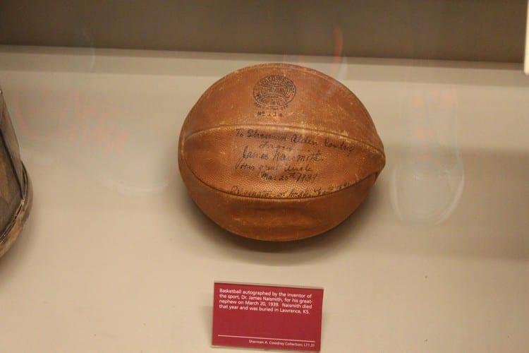 basketball naismith fame hall peach basket ball visiting memorial