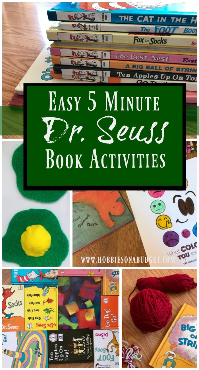Easy 5 Minute Dr Seuss Book Activities