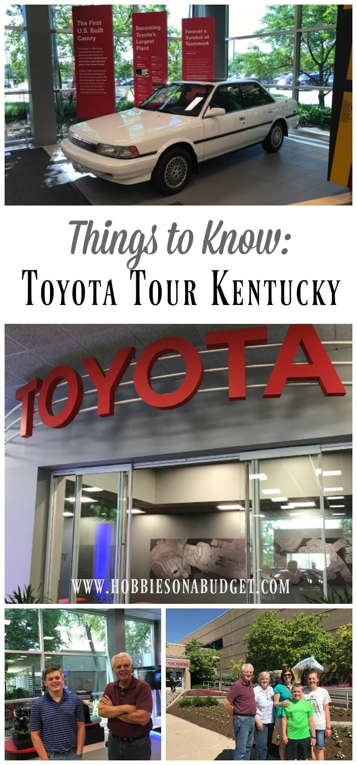 things to know toyota tour kentucky hobbies on a budget. Black Bedroom Furniture Sets. Home Design Ideas