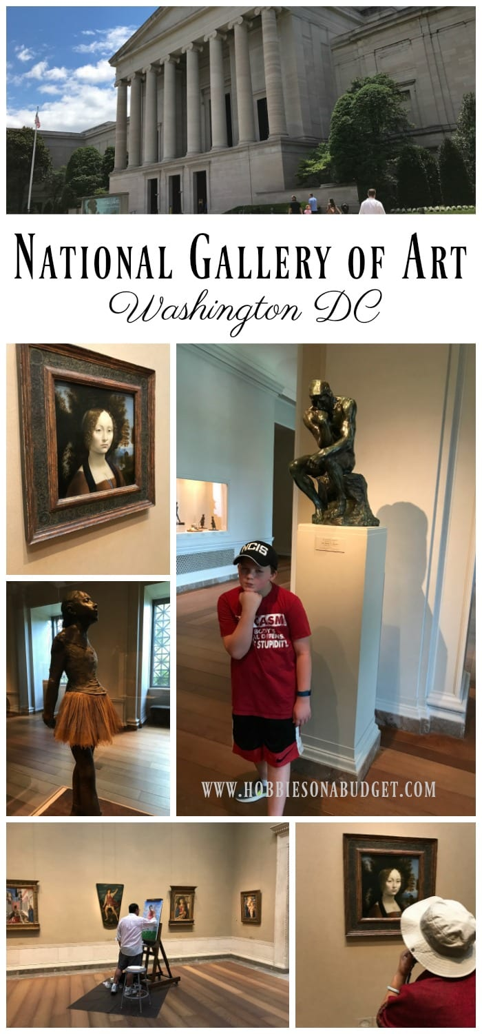 The National Gallery of Art is an impressive architectural building in Washington DC. Take your time as you tour the galleries so you can enjoy the wide range of exhibits. This FREE museum is the perfect place to appreciate art, sculpture and architecture.