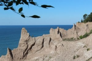 Chimney Bluffs State Park:  Lake Ontario