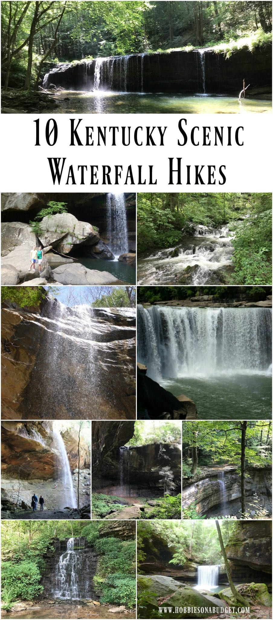 One of our favorite things to do on a fall day in Kentucky is to get out and explore one of Kentucky's waterfalls. Kentucky may not have the most waterfalls in the United States, but the ones we have are worth the time to see them! Here are 10 of our favorite Kentucky scenic waterfall hikes.   #waterfalls #hiking #Kentucky #Kentuckywaterfalls