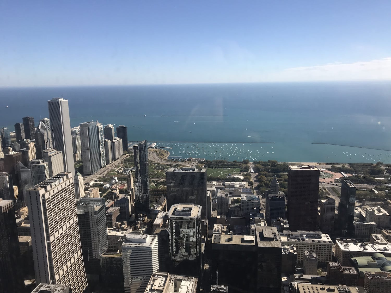 View from Willis Tower, SkyDeck Chicago