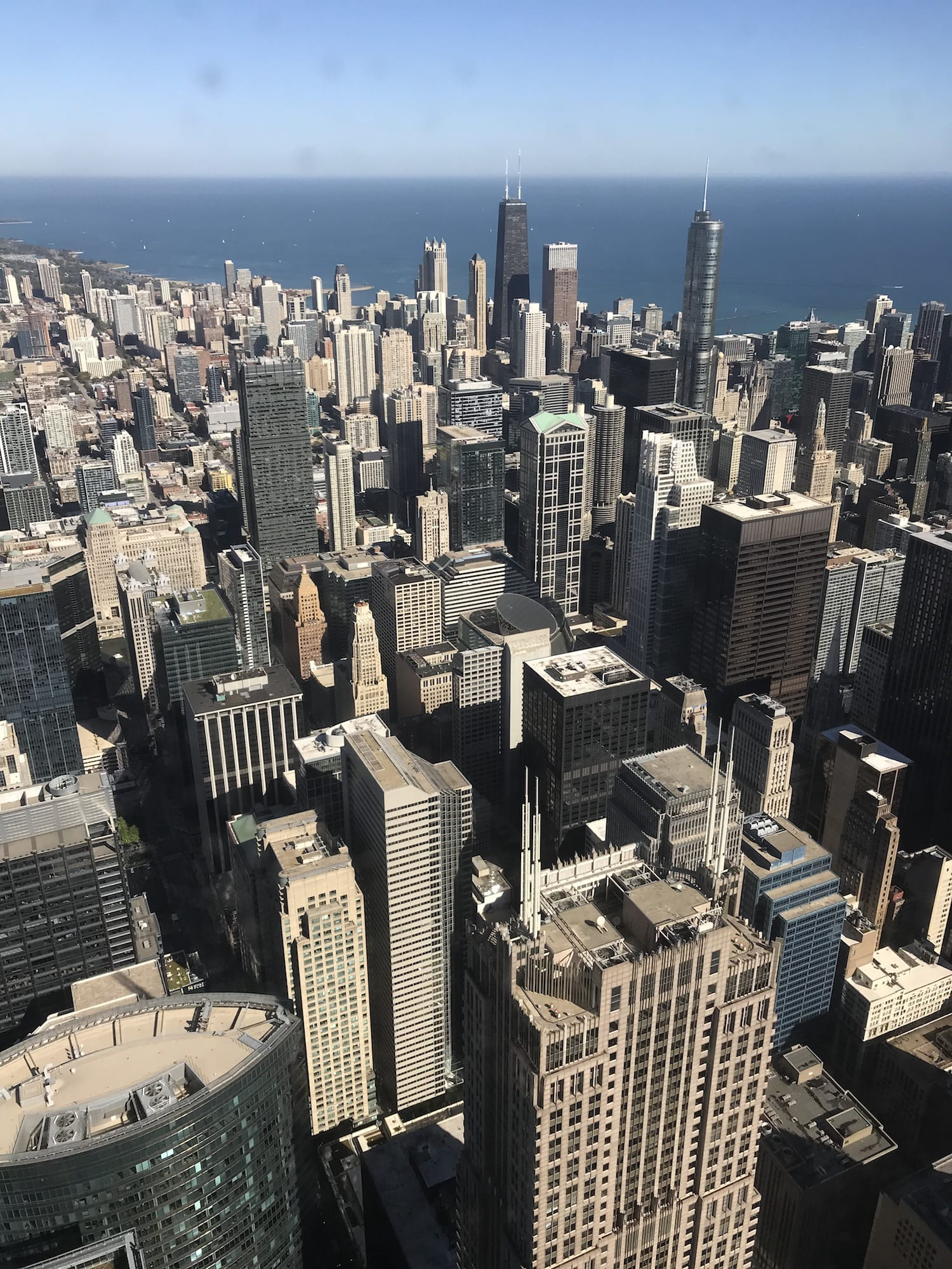 view from top of Willis Tower Chicago Illinois