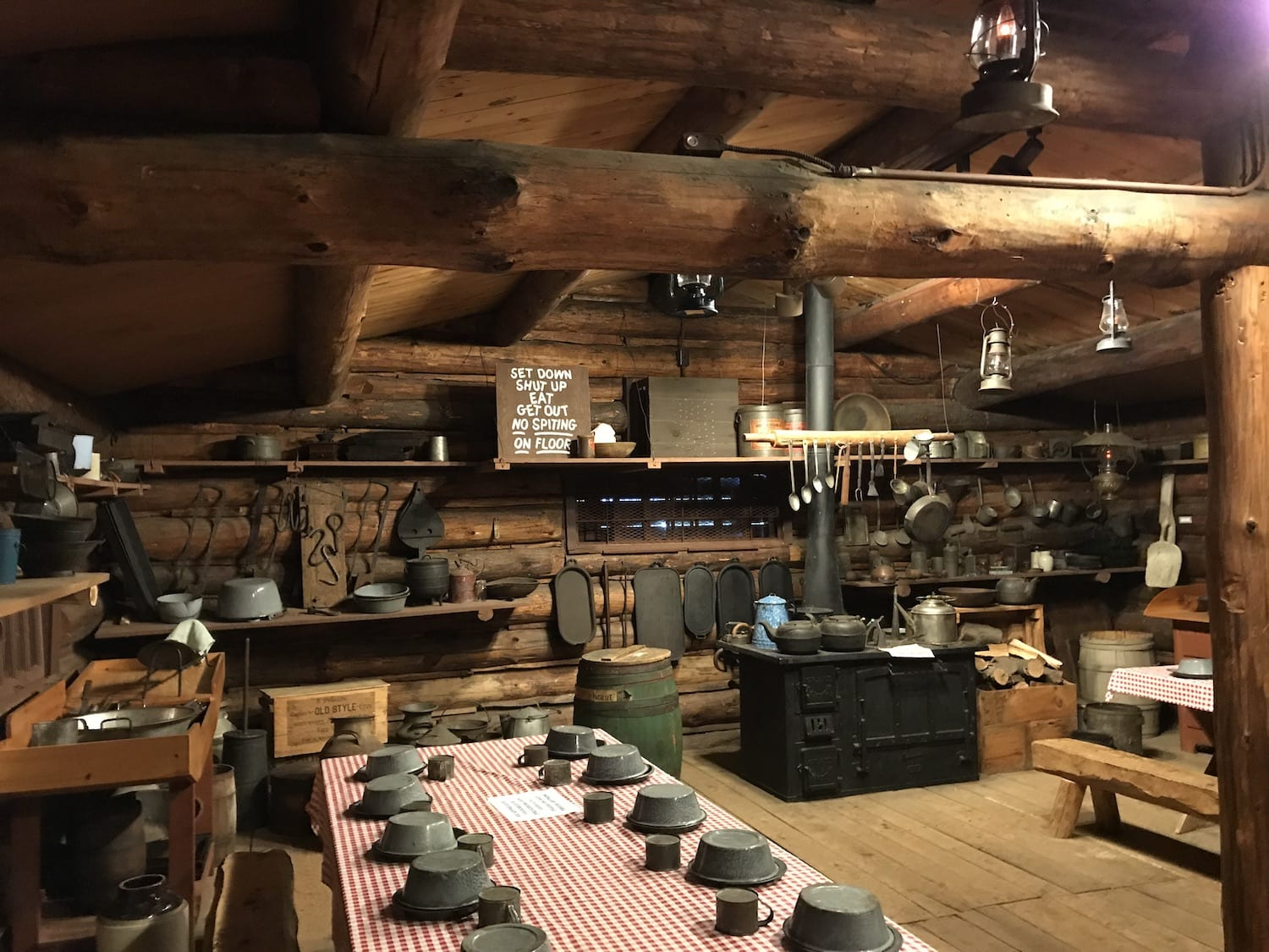 Cook shack at Paul Bunyan Logging Camp Museum