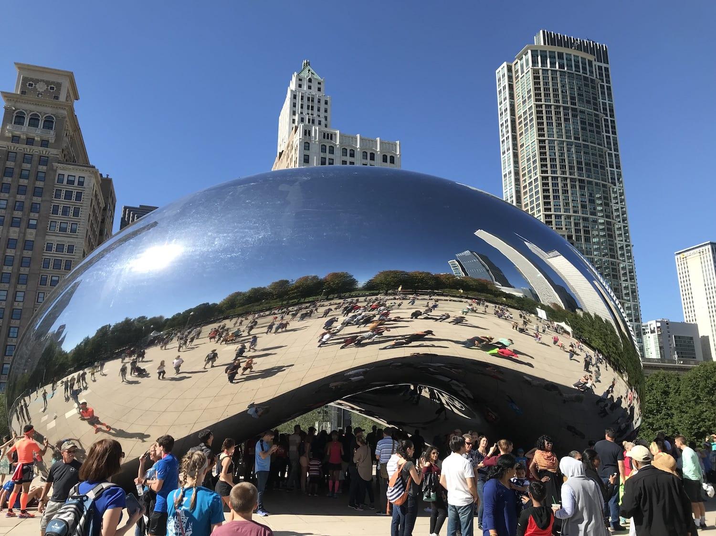 Cloud Gate, The Bean Sculpture in Millenium Park, Chicago