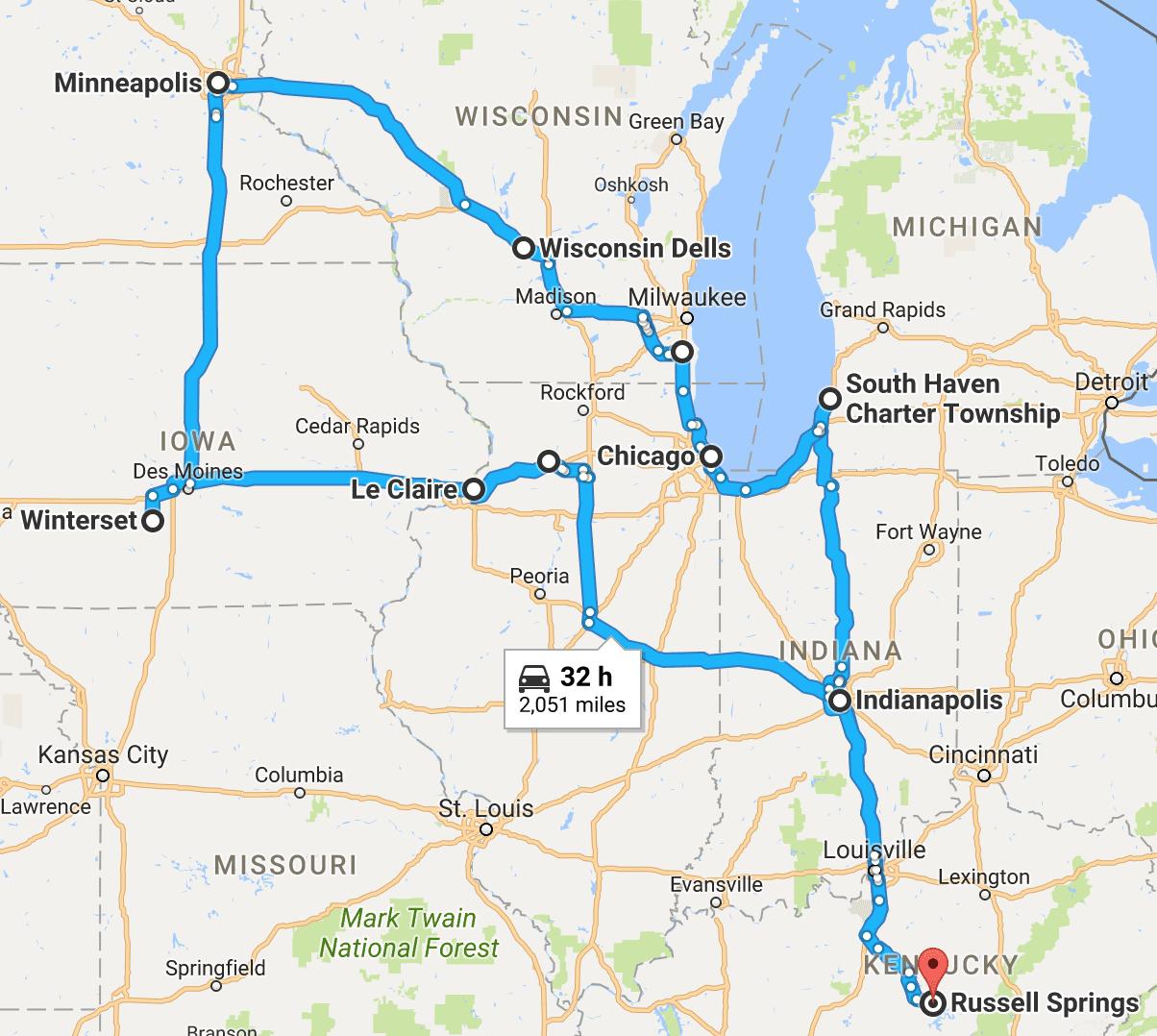 Midwest Fall Break Road Trip