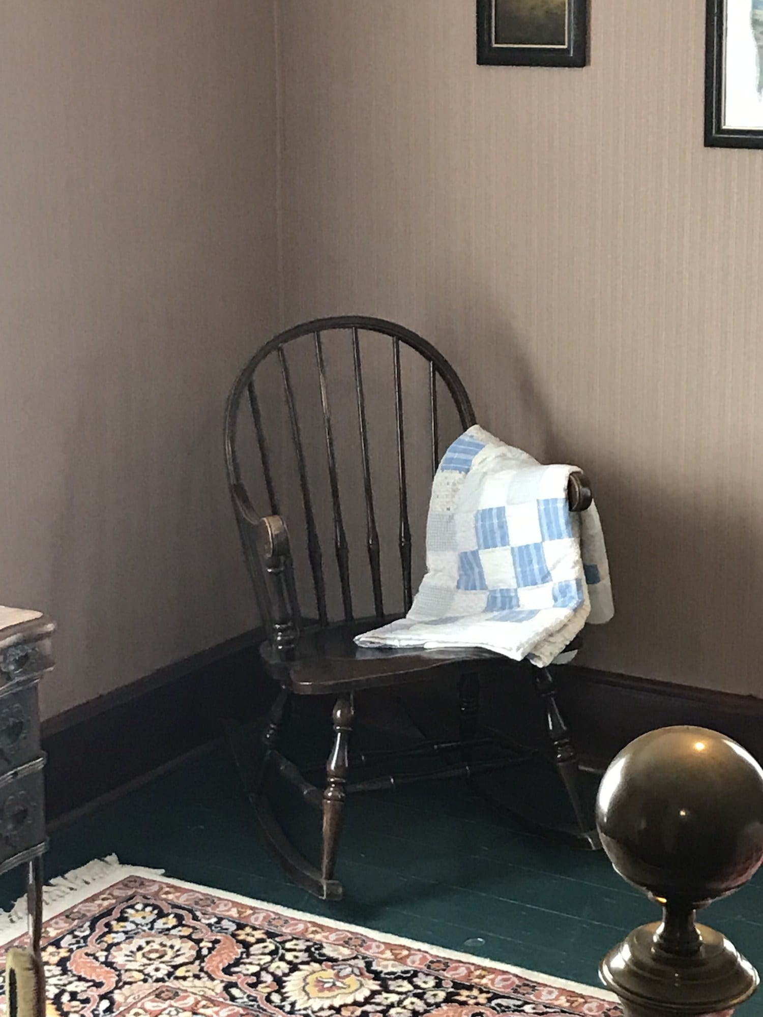 Chair owned by the Reagan Family in Dixon Illinois