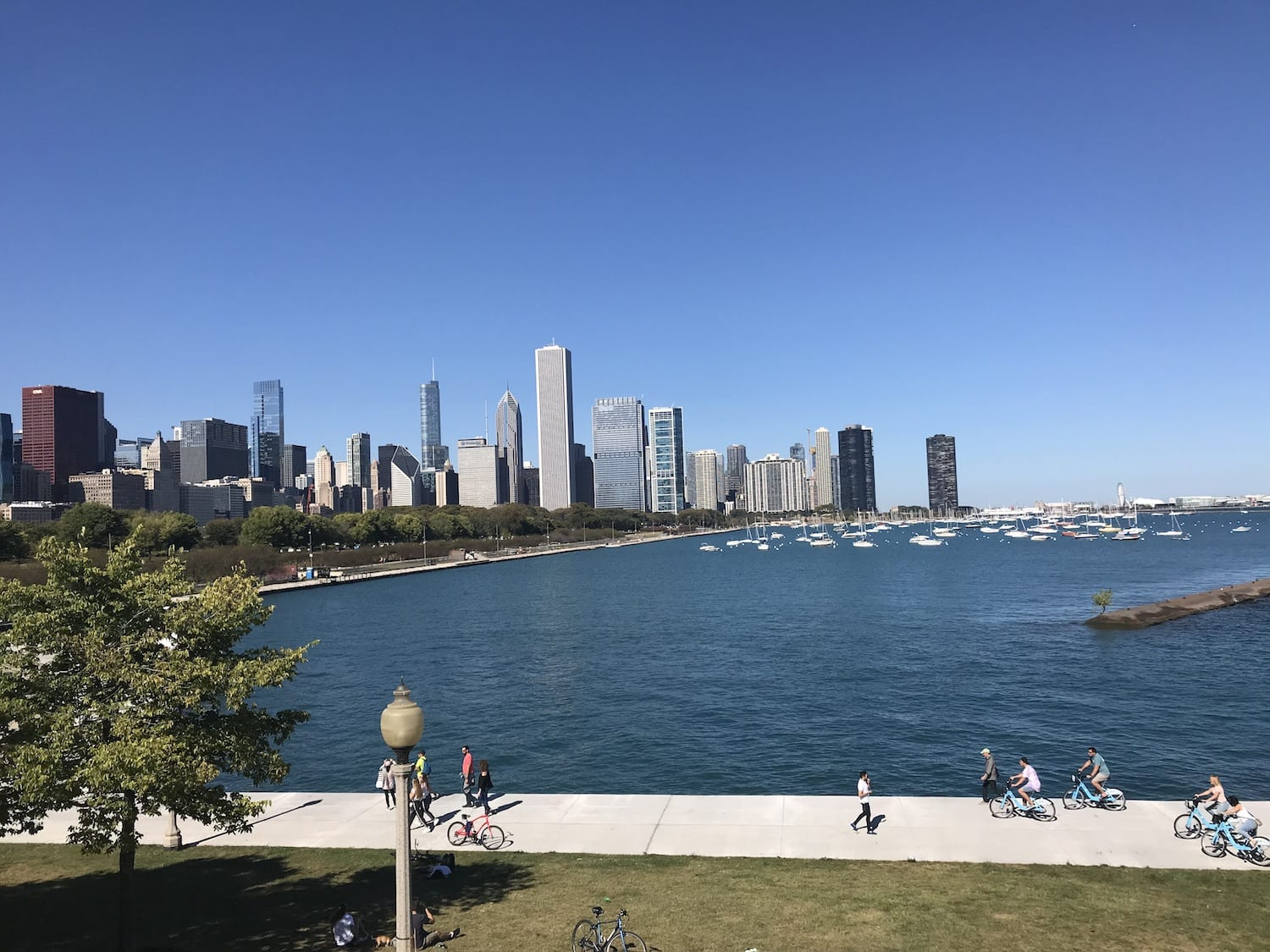 View of Lake Michigan from Shedd Aquarium in Chicago, Illinois