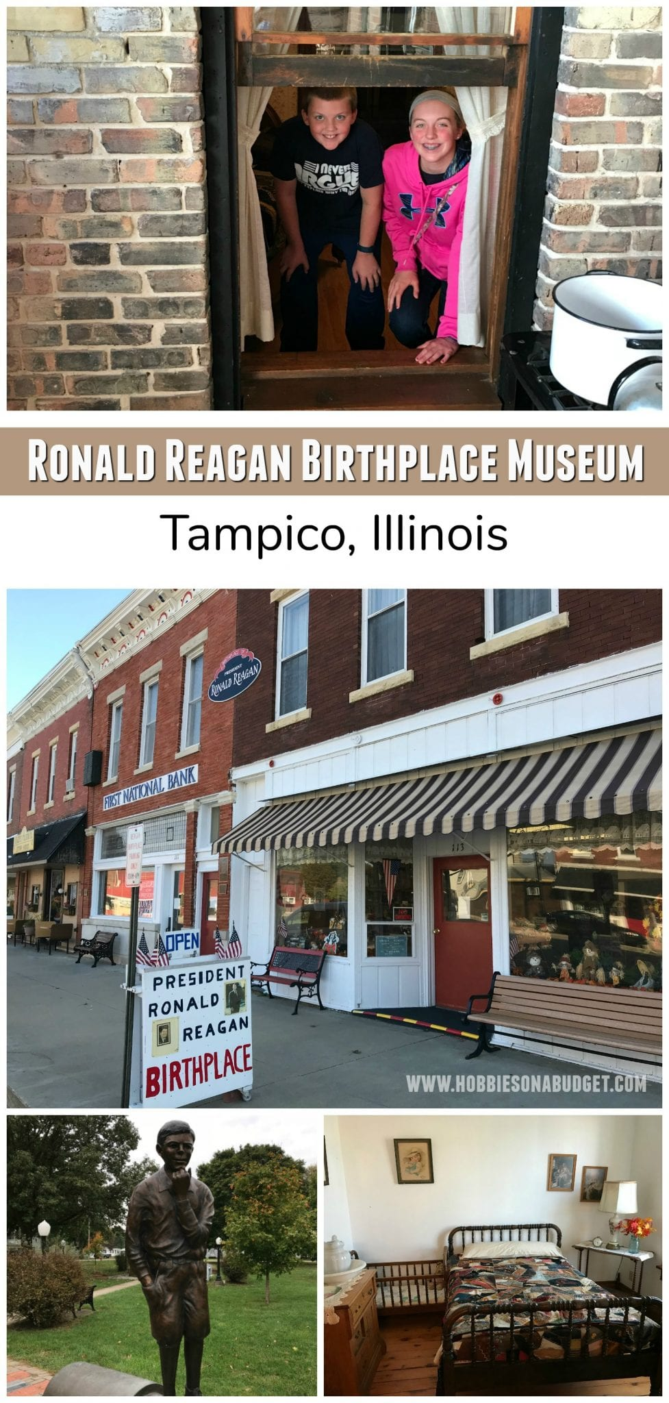 Learn about the early life of President Reagan at the President Ronald Reagan Birthplace Museum in the small Midwest town of Tampico, Illinois.