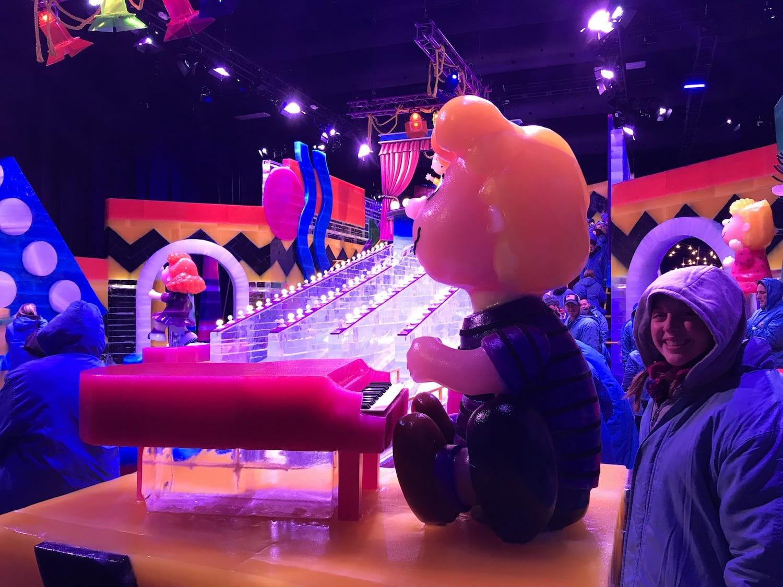 ICE Slide at Charlie Brown Christmas