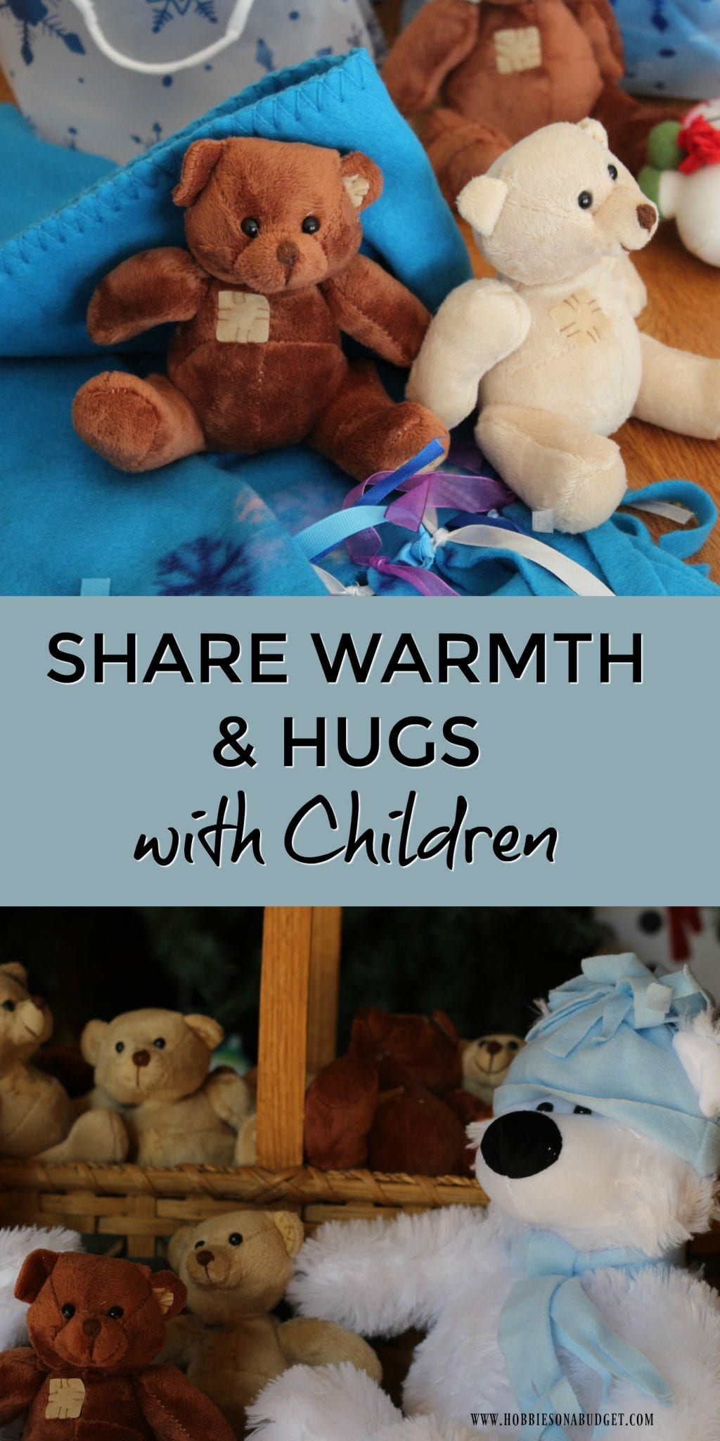 As the weather gets colder and the holiday decorations all go up around town and in our homes, it's time to think about spreading love and doing something special for the children in our communities who may not have warm homes and families. Here are some easy ideas to share warmth & hugs with children.