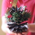 Christmas Pinecone Ornaments
