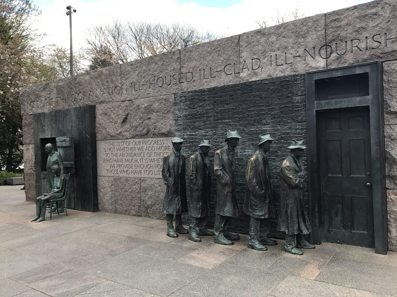 Great Depression Memorial Roosevelt Memorial Washington DC