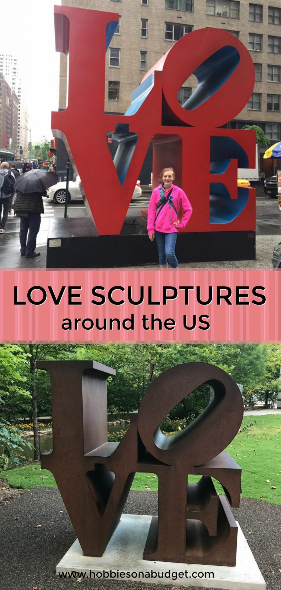 Do you recognize this iconic LOVE sculpture by artist Robert Indiana?  Check out where you can find these pieces of modern art in the United States! #williamsonthego #sculpture