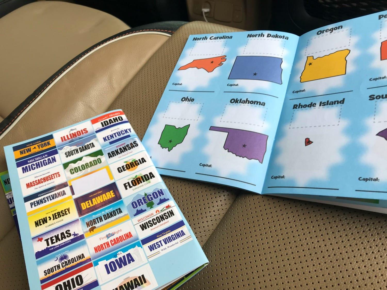 License plate sticker book