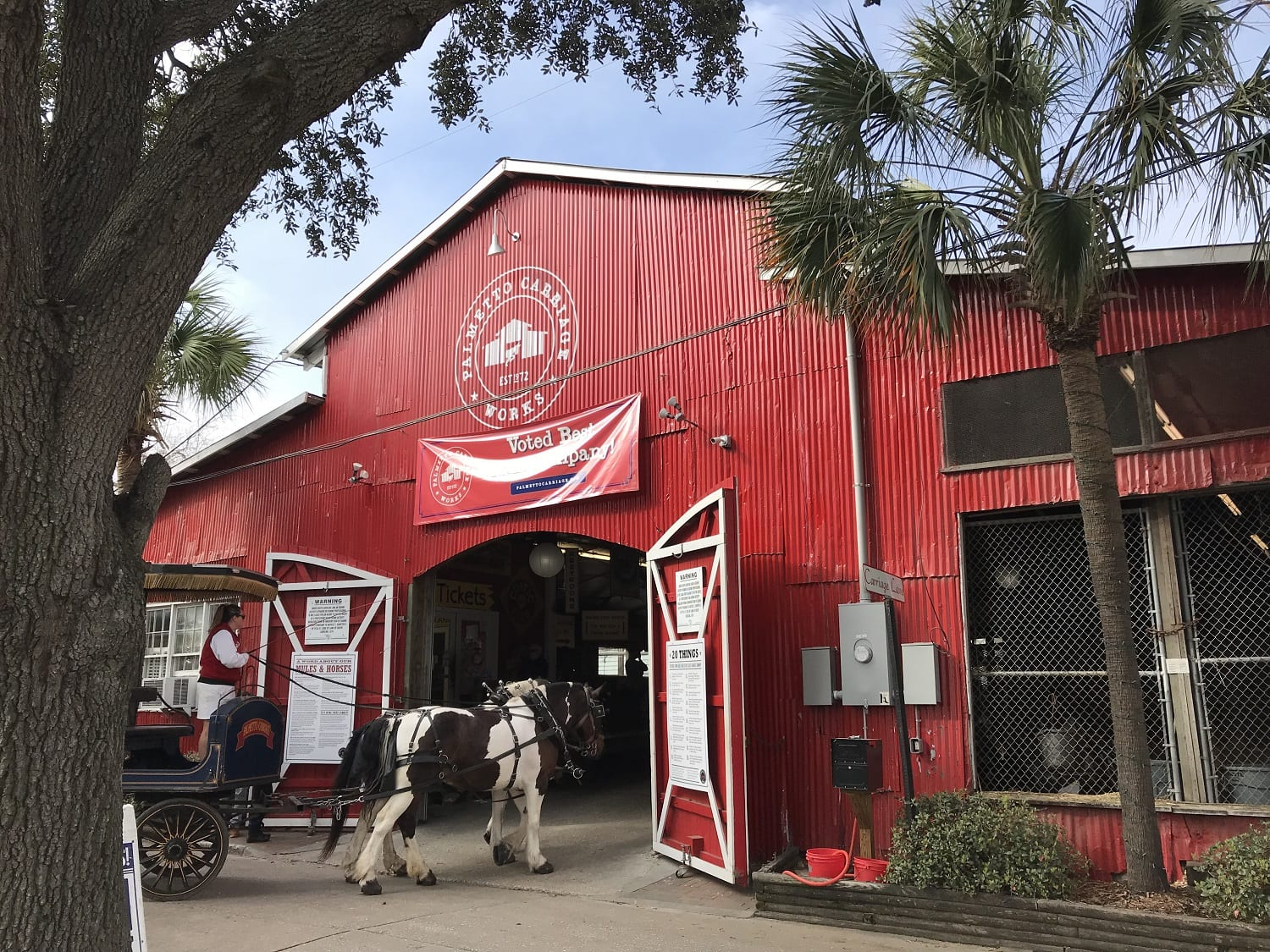 Palmetto Carriage Works Tours in Charleston South Carolina