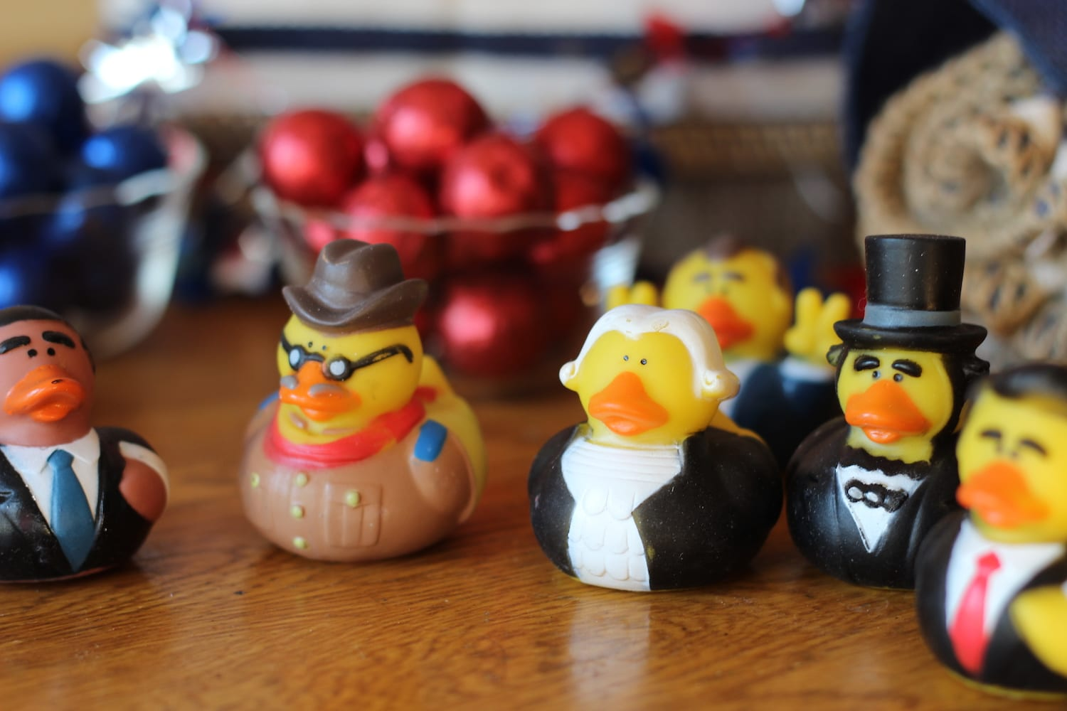 Presidential ducks and candy
