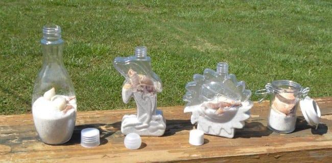 seashell bottles