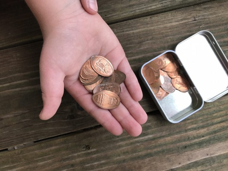 Collecting E-Pennies for Souvenirs