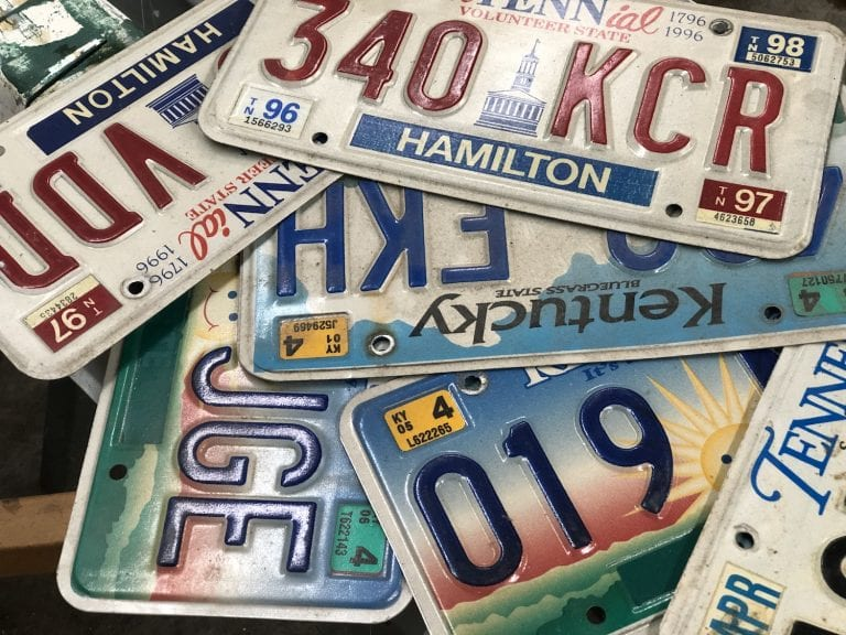 8 Creative Ways to Upcycle Old License Plates
