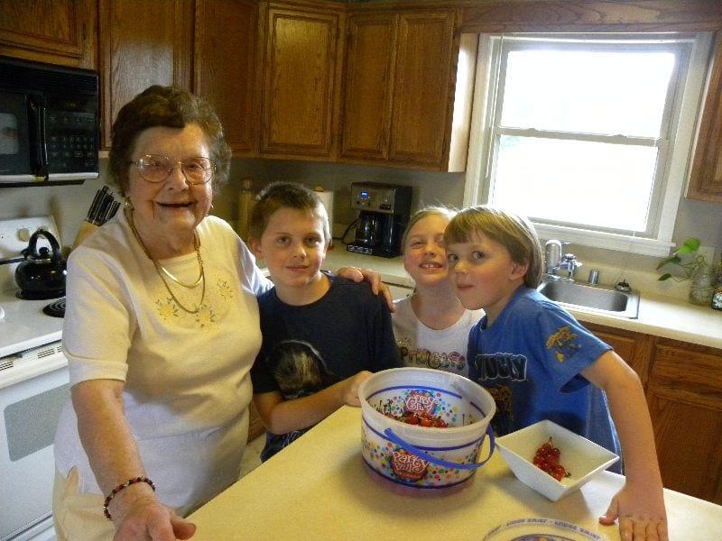 cherries and grandma