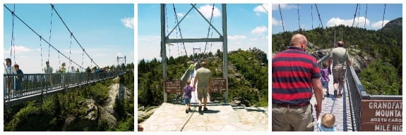 The bridge at Grandfather Mountain