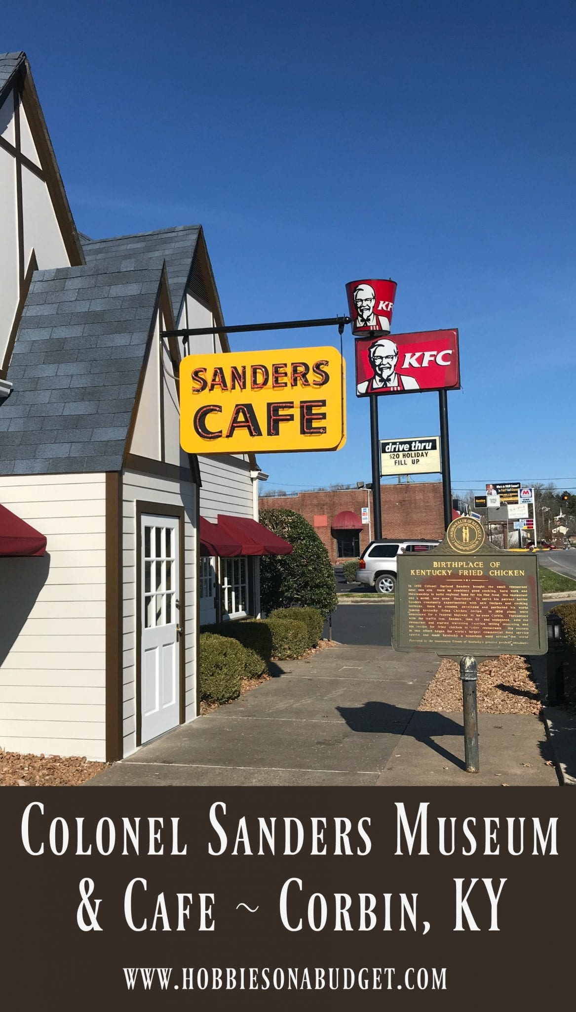 If you love Kentucky Fried Chicken, then you need to stop at the Harlan Sanders Cafe & Museum - the birthplace of KFC in Corbin, Kentucky on I-75! How many places can you eat your food in a modern restaurant while enjoying the feel of a legend like Colonel Sanders?
